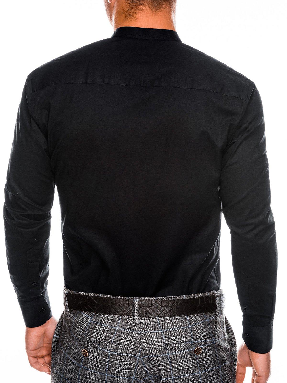 d735626d40c70 Koszula męska elegancka z długim rękawem K307 - czarna - Sklep Ombre