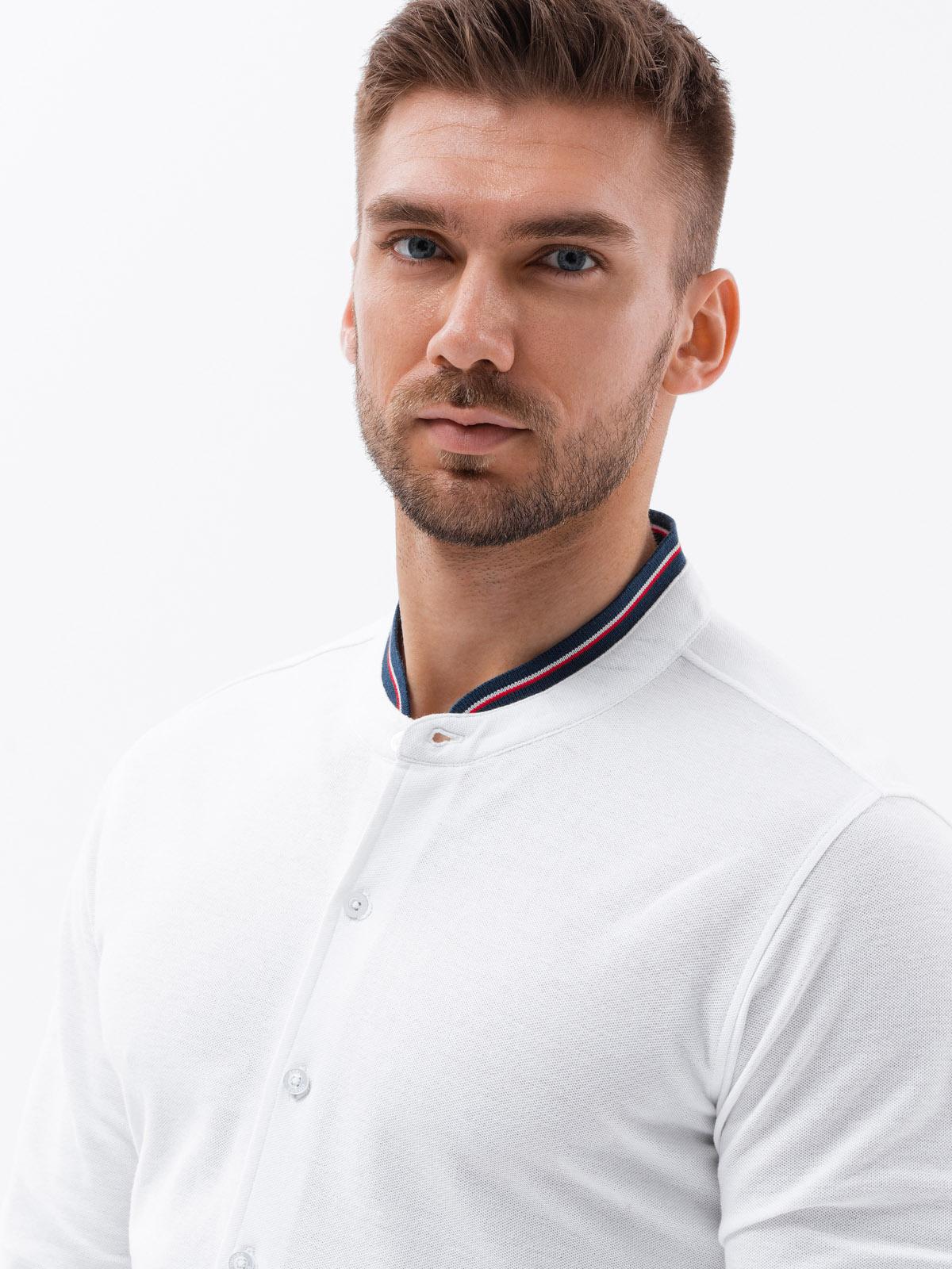 Koszula męska zdługim rękawem K542 - biała