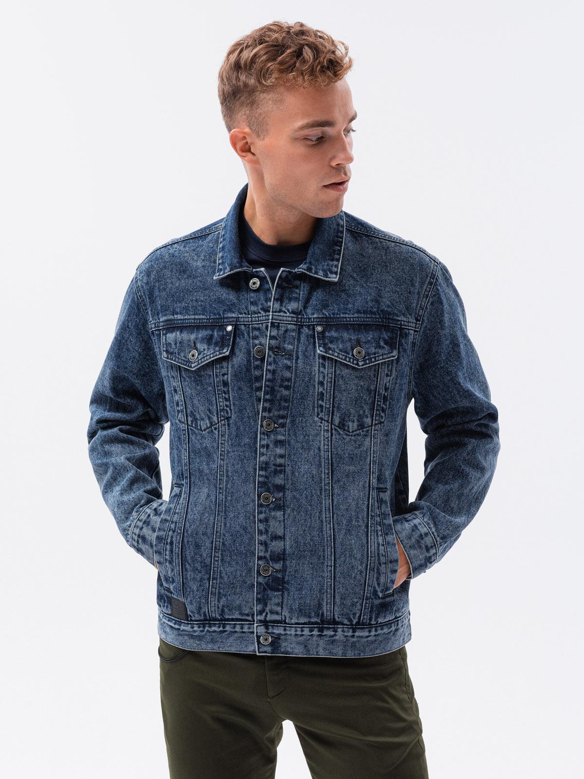 Kurtka męska jeansowa C441 - jeans