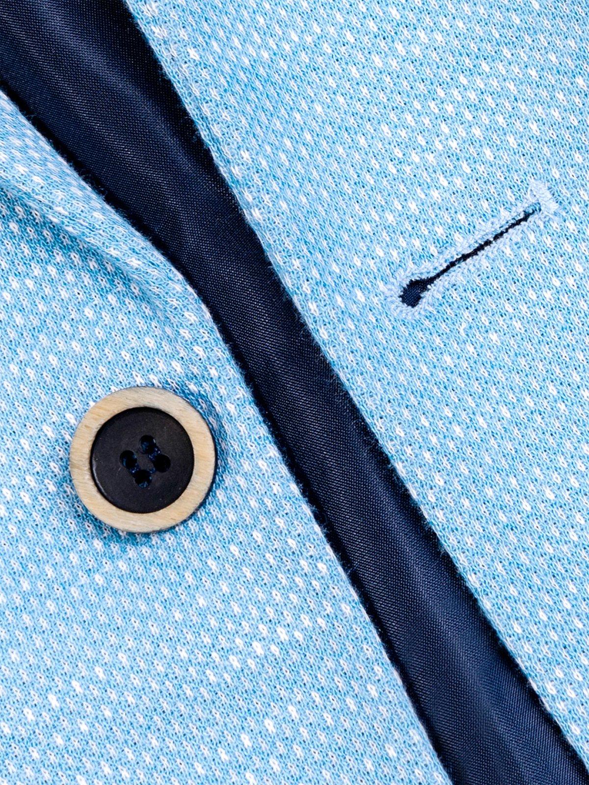 447b08abfe689 Marynarka męska casual M88 - błękitna - Sklep Ombre