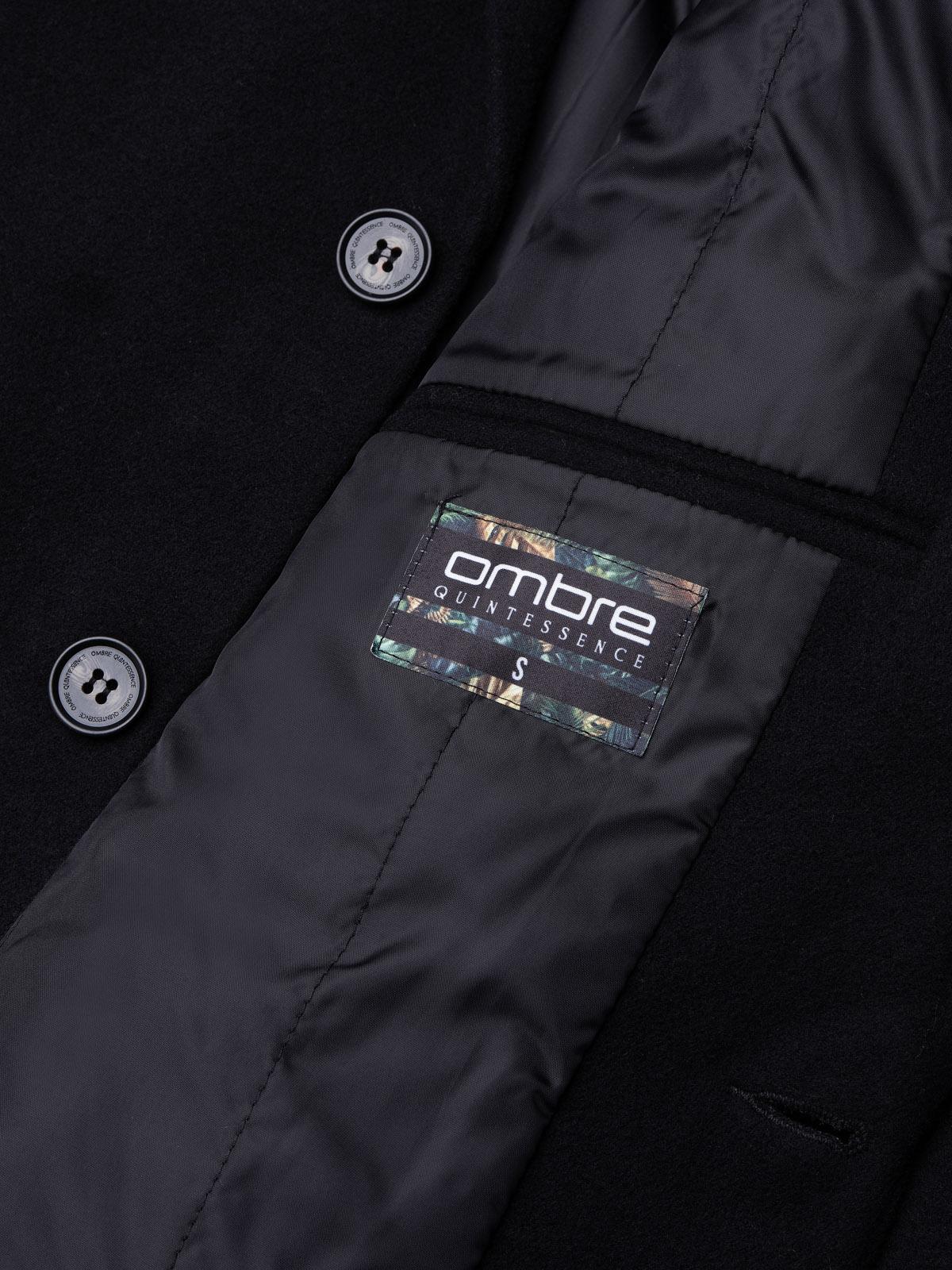 Płaszcz męski C432 - czarny