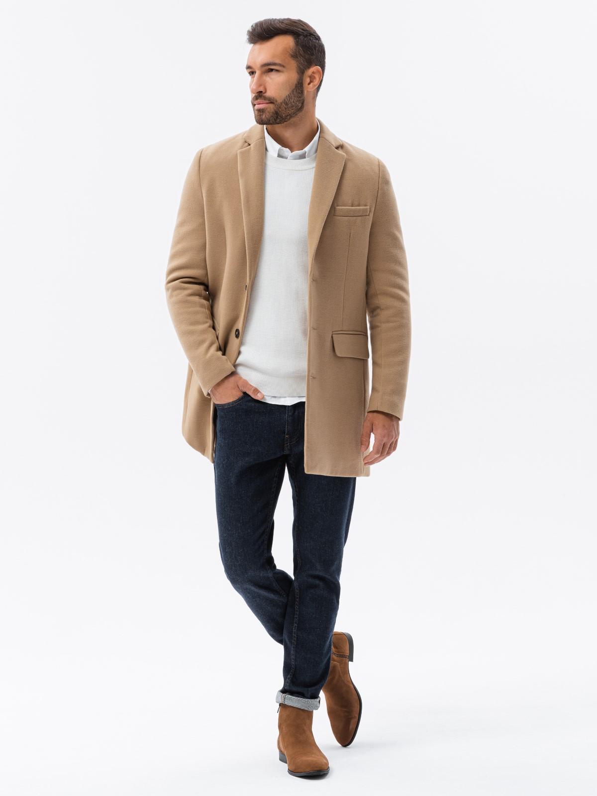 Płaszcz męski C432 - rudy