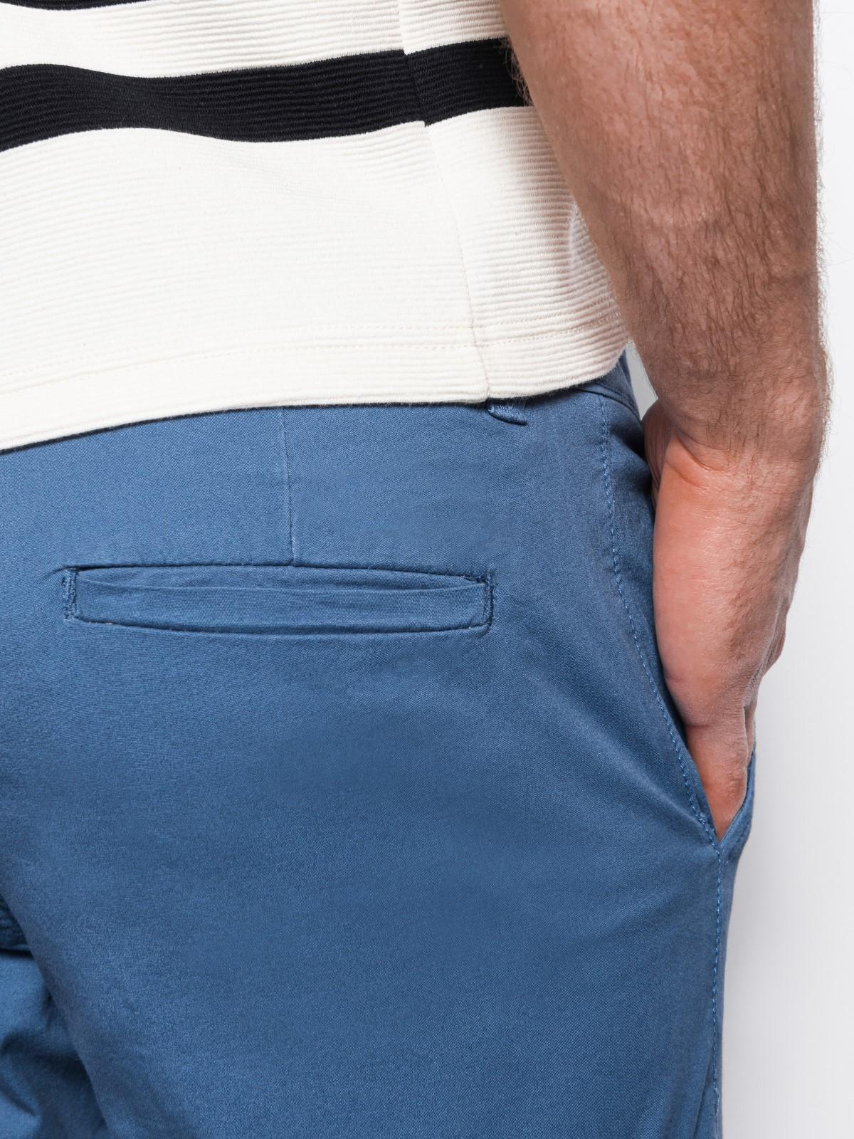 Spodnie męskie chino P894 - niebieskie