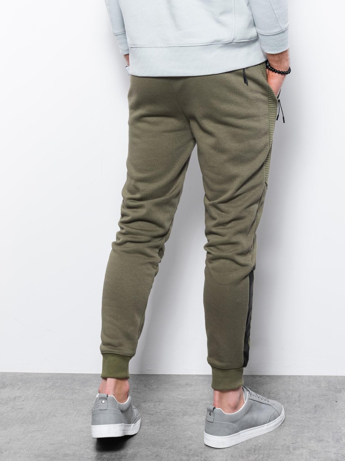 Spodnie męskie dresowe P920 - khaki