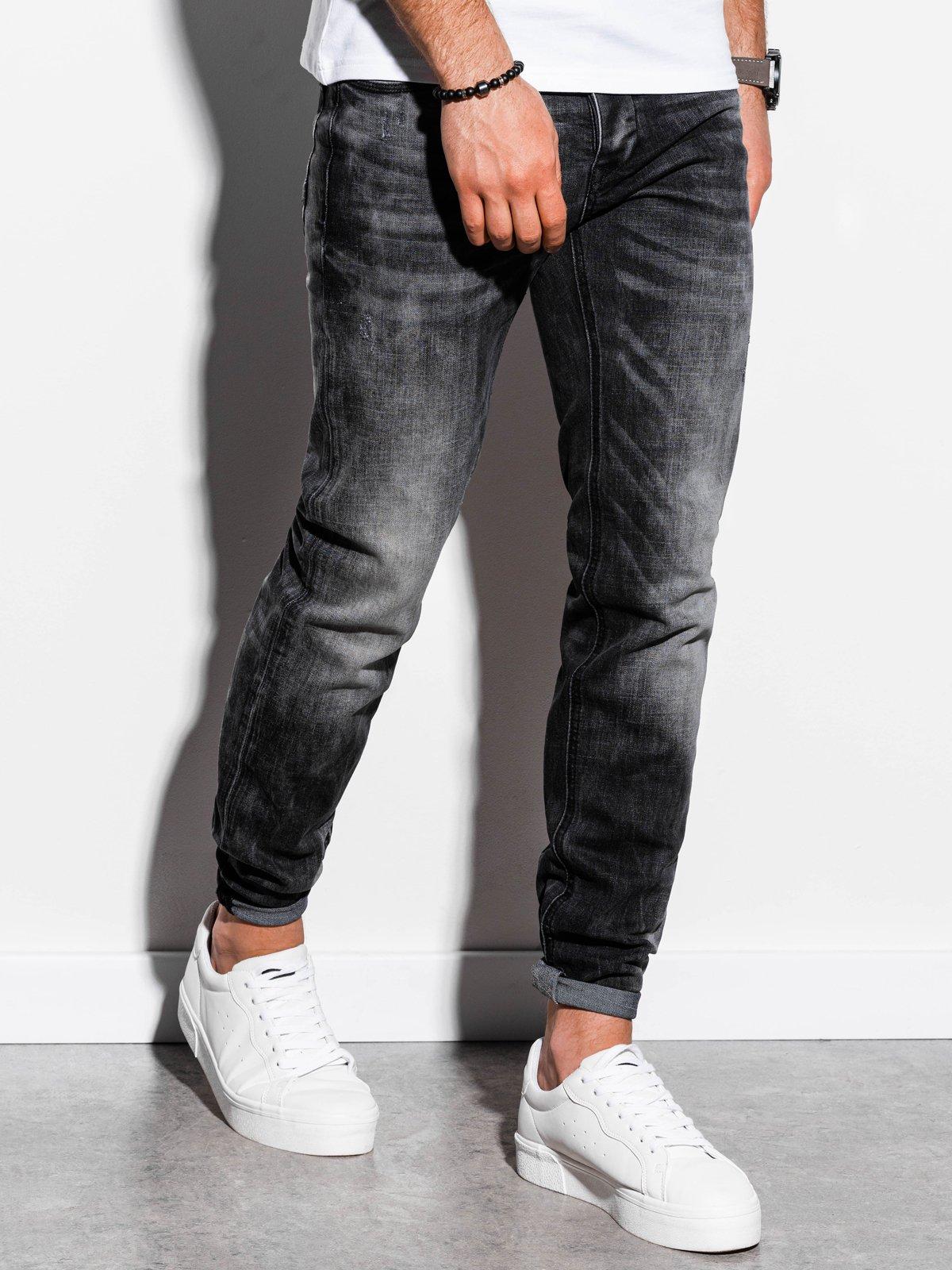 Spodnie męskie jeansowe P860 - czarne