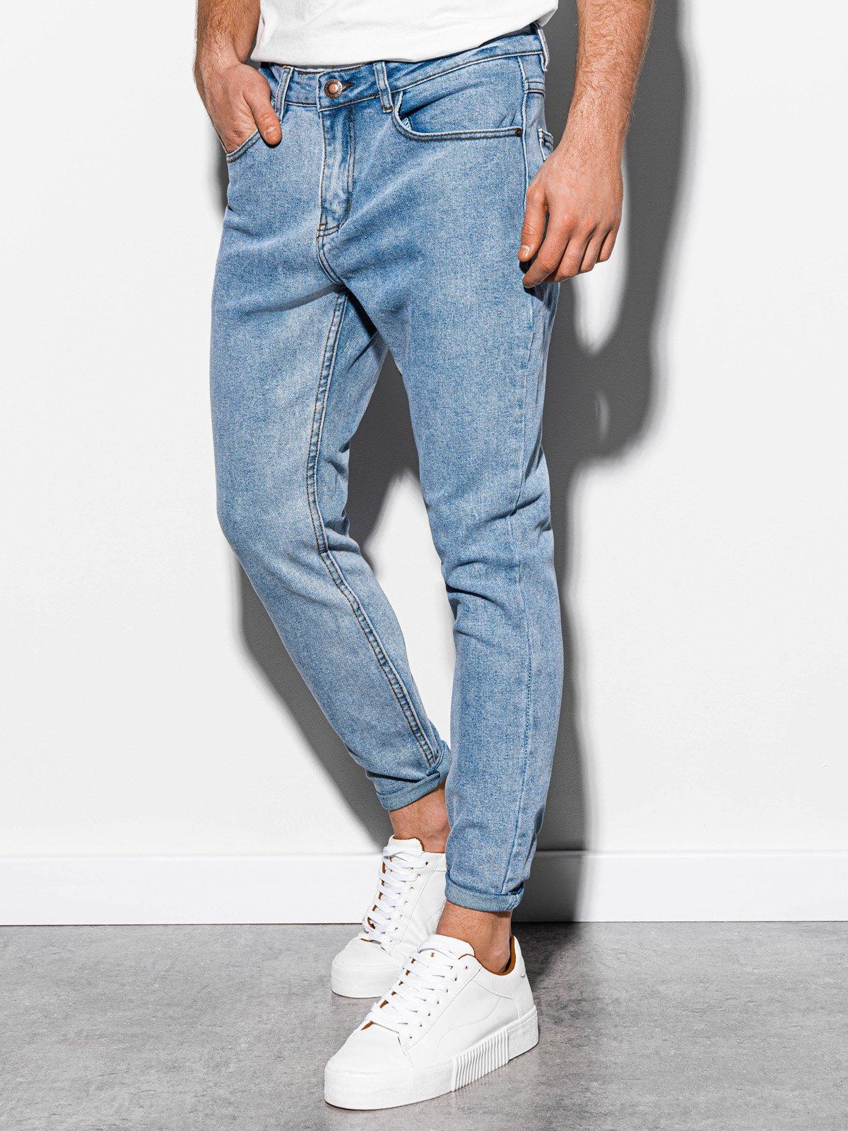 Spodnie męskie jeansowe P888 - jasnoniebieskie