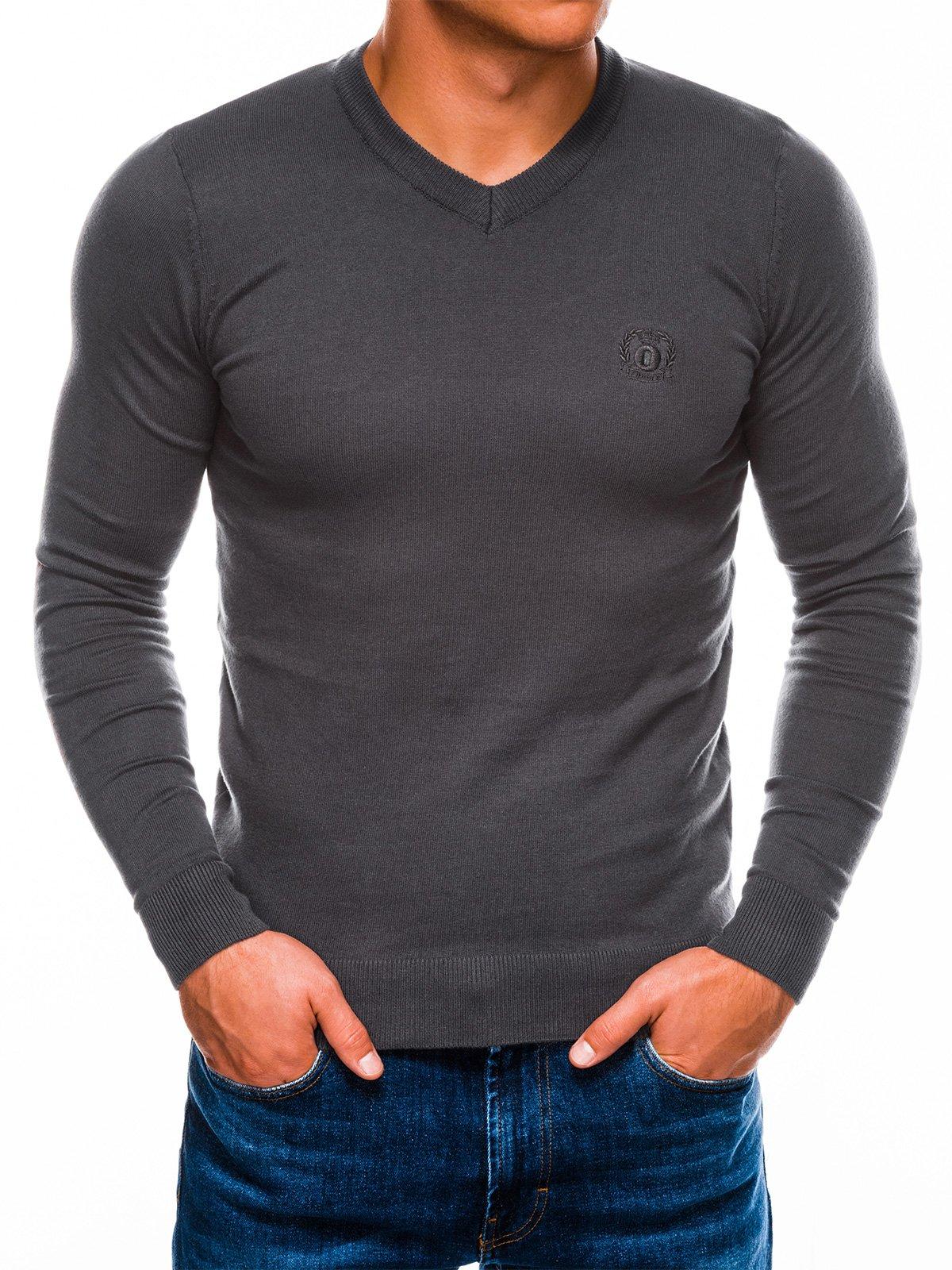 Sweter męski E74 - grafitowy