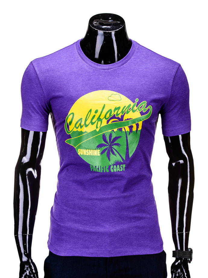 T-SHIRT S618 - FIOLETOWY